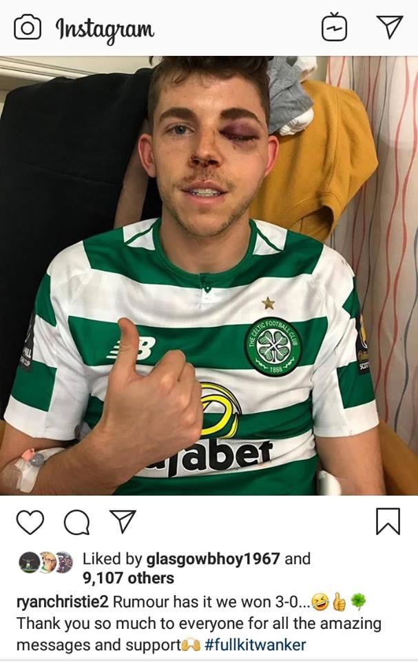 Ryan Christie's instagram after Aberdeen game